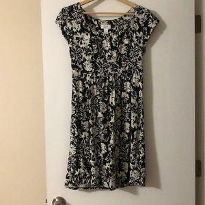 Black & White Loft Flower dress